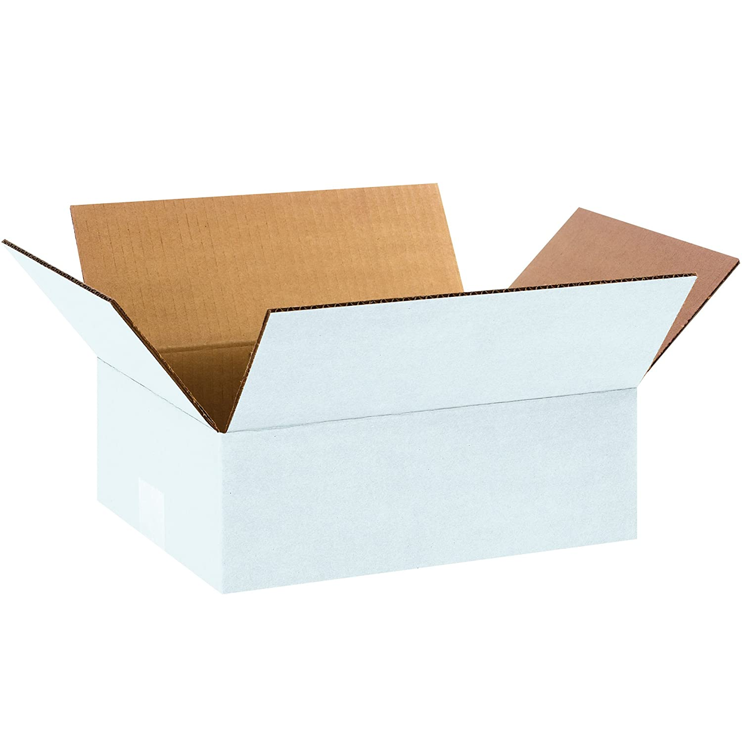 Pack of 25 12 x 9 x 4 White Tape Logic TL1294W Corrugated Boxes
