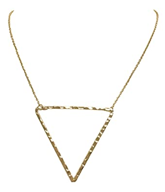 Amazon triangle geometric shapes pendant necklace gold jewelry triangle geometric shapes pendant necklace gold mozeypictures Gallery
