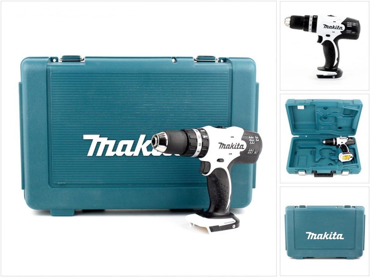 Makita DHP 453 blanco ZK 18 V Li-ion taladro inalámbrico incluido caja de transporte de plástico: Amazon.es: Bricolaje y herramientas