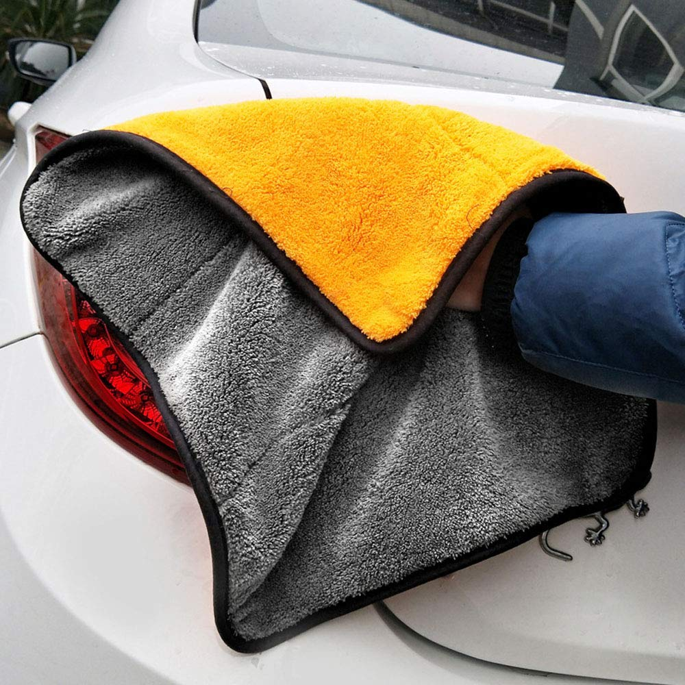 Microfiber Cleaning Cloth,Professional Grade Premium Microfiber Towels ,Drying Absorber Car Polishing Waxing Cleaning Detailing Cloth 4-Pieces lint-Free, SimpleHouseware ,4 Colors high Absorbent