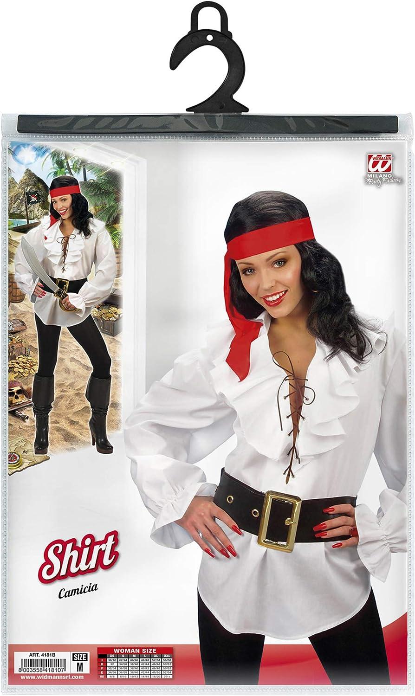 Bianco Costume Per Adulti Camicia Pirata//Rinascimento WIDMANN WDM4181B M