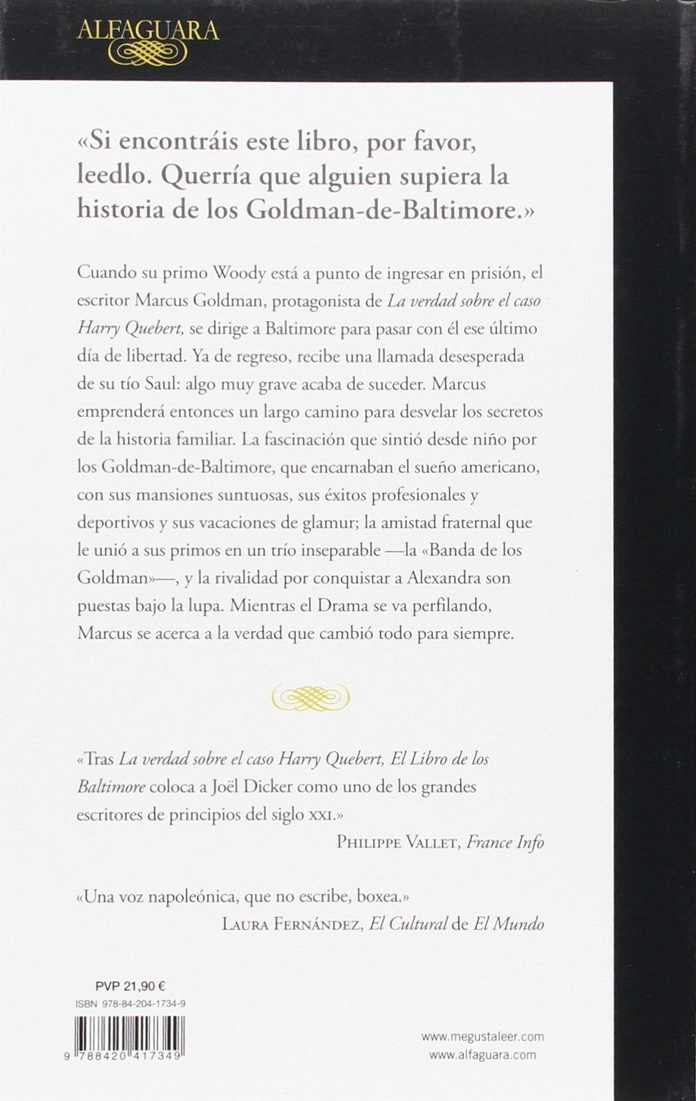 El Libro de los Baltimore (Literaturas): Amazon.es: DICKER, JOEL, DICKER, JOEL, GARCIA GALLEGO, AMAYA;GALLEGO URRUTIA, MARIA TERESA;: Libros