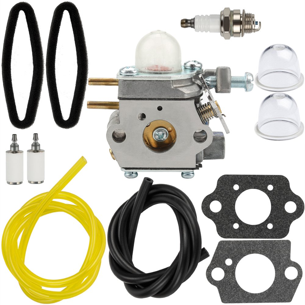 HIPA WT973 Carburetor + Tune Up Kit Air Filter for Bolens BL110 BL160 Trimmer Craftsman 316711020 316711021 316711022 316711370 316711390 316711470 316711471 316990100 316990110 Brushcutter