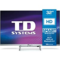 TD Systems K32DLX11HS - Televisor Smart TV 32 Pulgadas Android 9.0 y HBBTV, 800 PCI Hz, 3X HDMI, 2X USB. DVB-T2/C/S2…