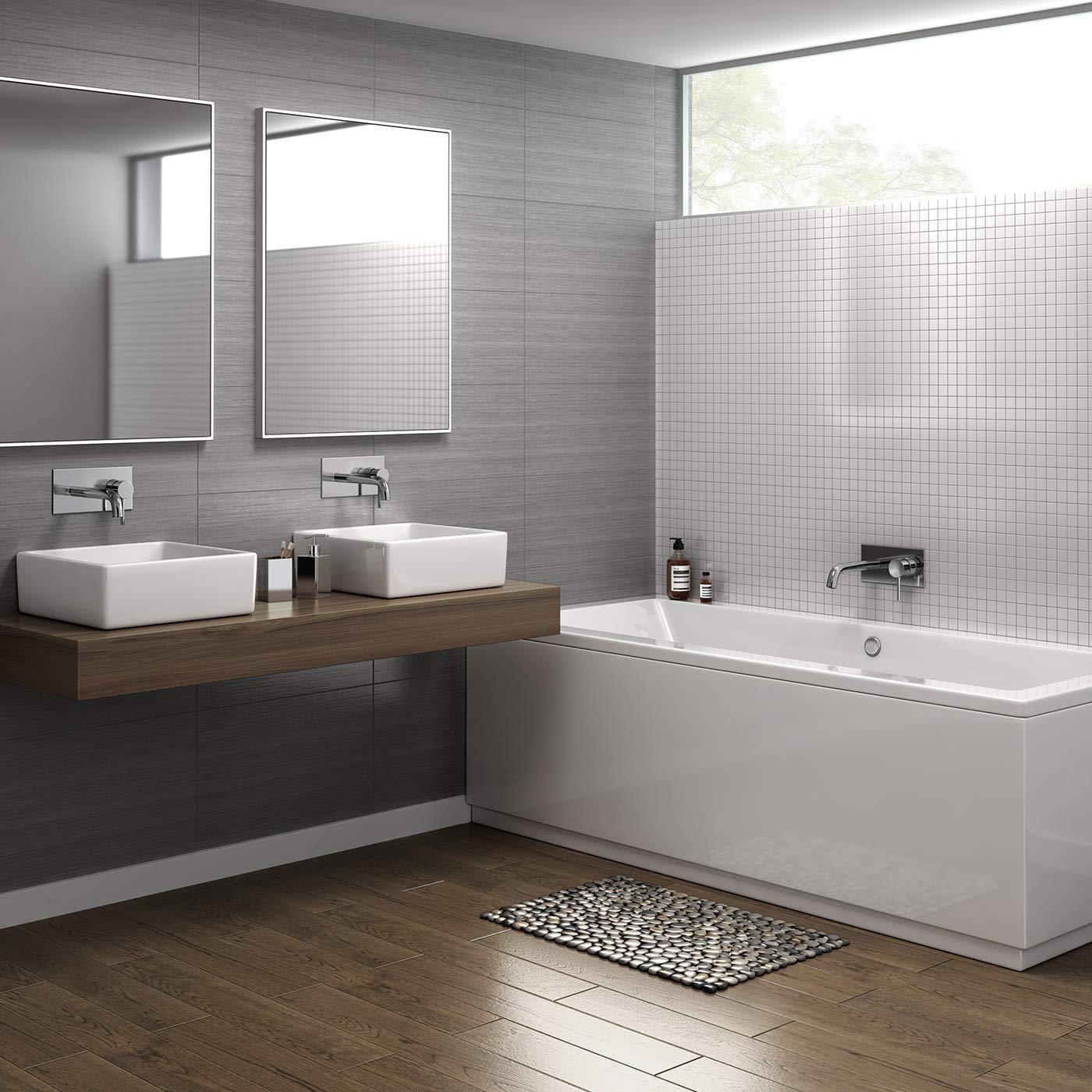 Wall Mounted Basin Sink Mixer Tap Chrome Bathroom Faucet TB3207 iBathUK