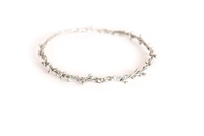 Silver Bridal Hair Circlet