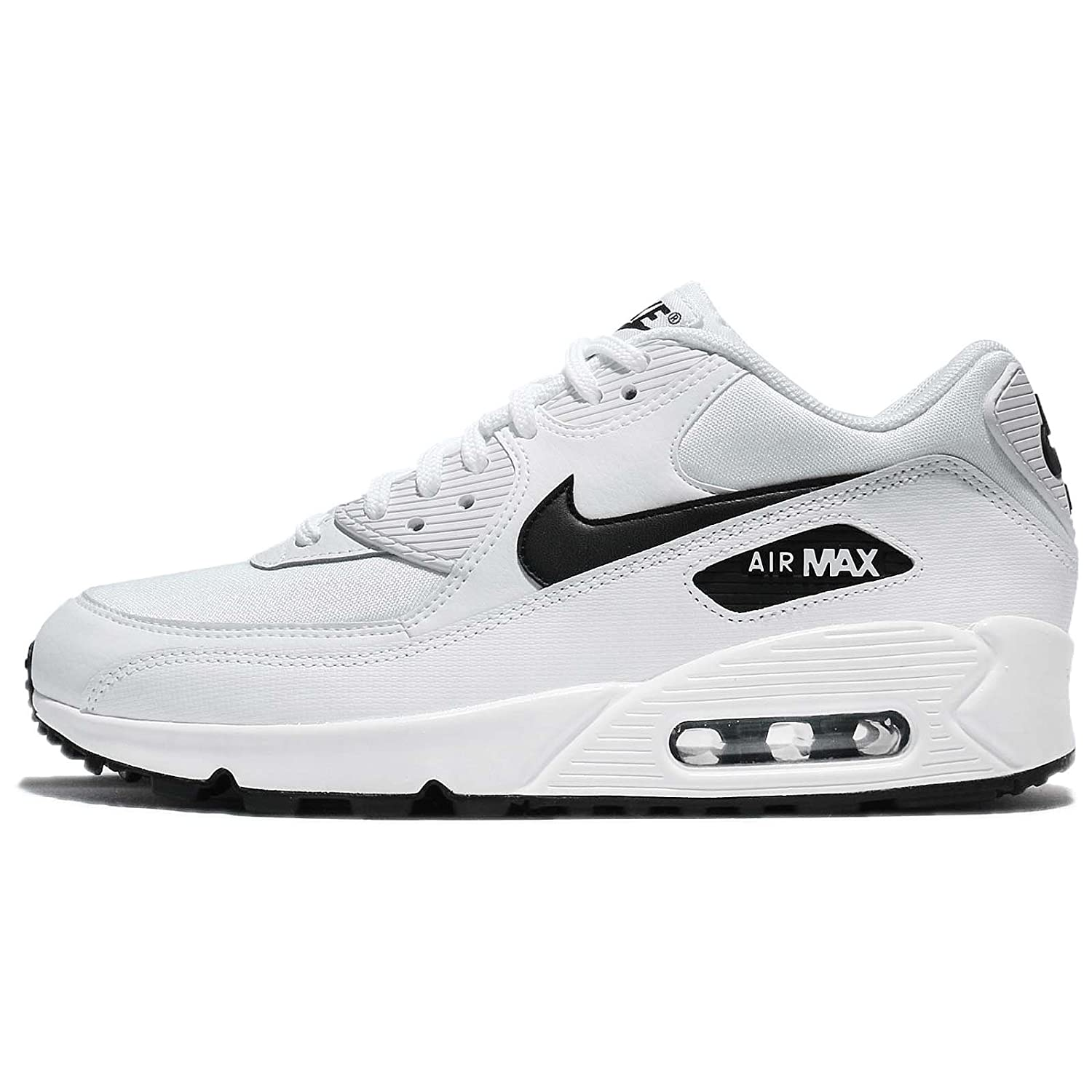 NIKE WMNS Sneakers Air Max 90, Sneakers (White/Black Basses 131) Femme Blanc (White/Black 131) e3c68a5 - automaticcouplings.space