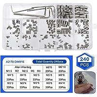 BETOY Kontermutter Set 165 teilig selbstsichernd Kontermutter Nylon Sechskantmutter Muttern Sortiment Schrauben Kits der mit Aufbewahrung flach Fall Box M3 M4 M5 M6 M8 M10 M12