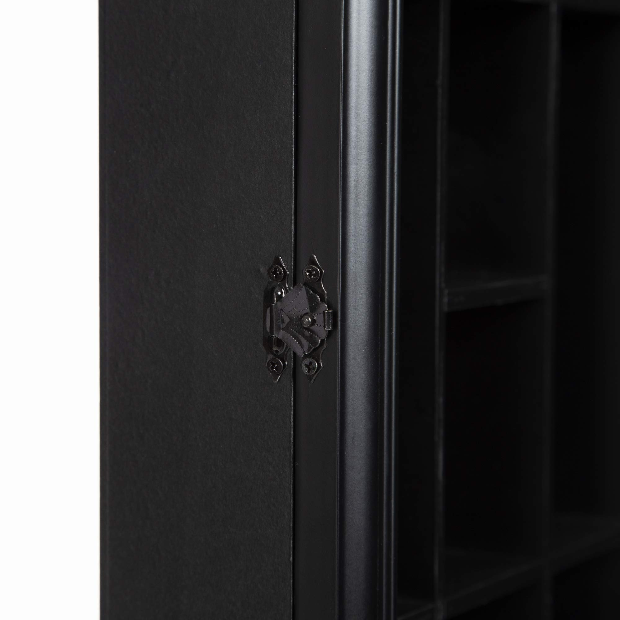 Gallery Solutions 18x16 Shot Glass Display Case with Hinged Front in Black by Gallery Solutions (Image #5)