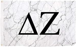 Delta Zeta Sorority Letter Flag Banner 3 feet x 5 feet Sign Decor dz - Light Marble