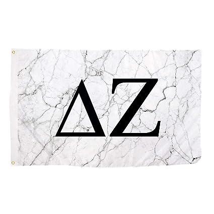 Delta Zeta Light Marble Sorority Letter Flag Banner 3 x 5 Sign Decor dz -  Light Marble