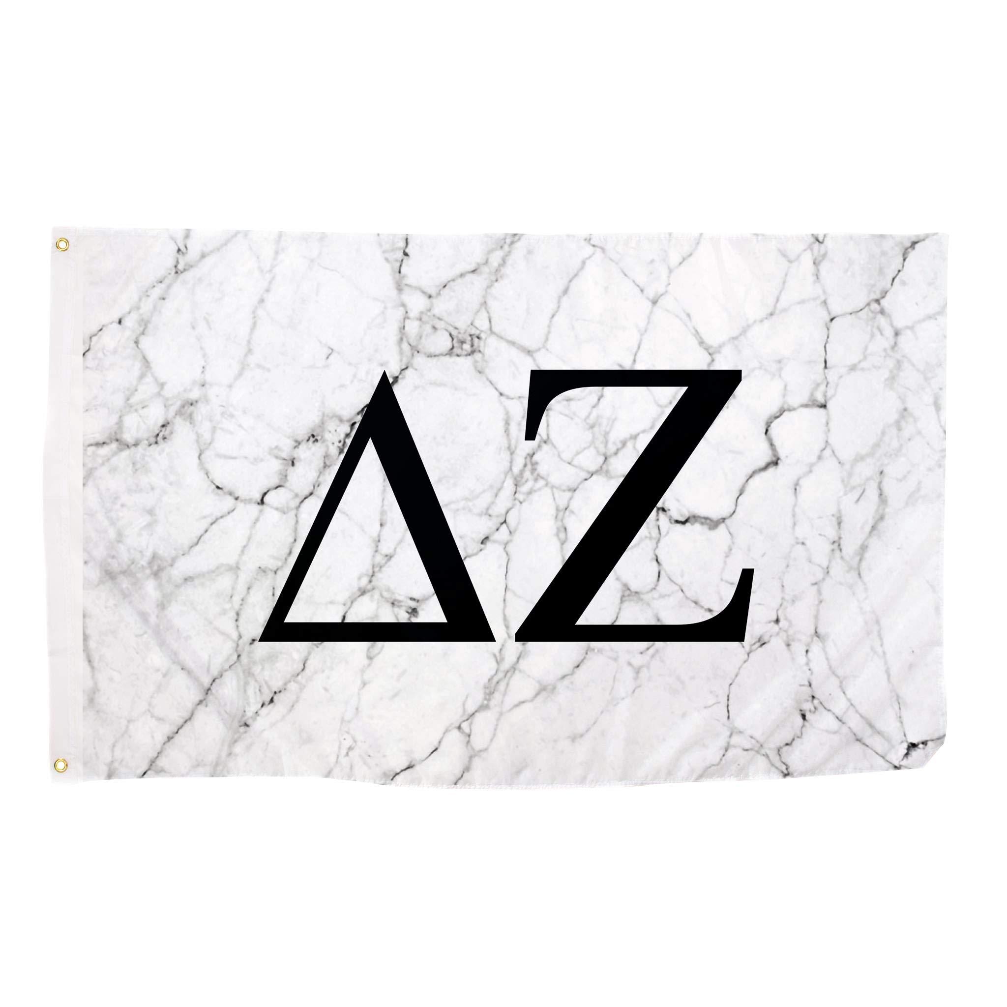 Delta Zeta Light Marble Sorority Letter Flag Banner 3 x 5 Sign Decor dz