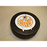 $67 » Milan Lucic Signed Edmonton Oilers Hockey Puck Autographed 1C - Autographed NHL Pucks