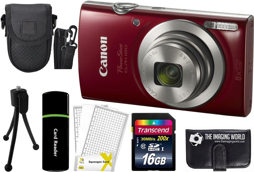 Canon PowerShot ELPH 180 20MP 8X Zoom Digital Camera + Card + Reader + Case + Accessory Bundle - 71NVmZXKLBL - Canon PowerShot ELPH 180 20MP 8X Zoom Digital Camera + Card + Reader + Case + Accessory Bundle