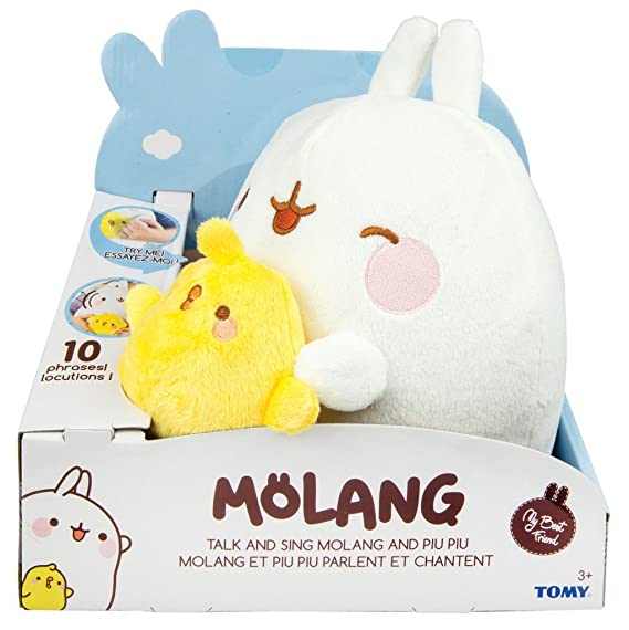 Amazon.com: TOMY Molang Talk and Sing Plush Figure Molang & Piu Piu 25 cm Peluches: Toys & Games