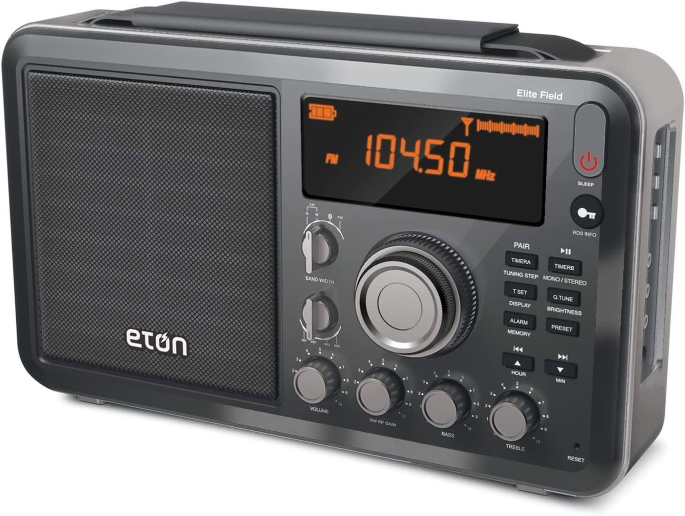 Eton Elite Field AM/FM/Shortwave Desktop Radio with Bluetooth