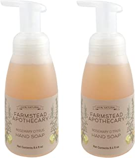 product image for Farmstead Apothecary Foaming Hand Soap, Rosemary Citrus 8.4 oz (Pack of 2)