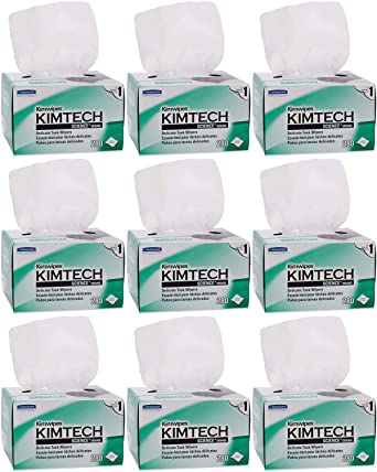 Top Pack Supply Kimwipes Low-Lint Wipers Case of 30 Boxes 1 Ply White 280//Box 4.4 x 8.4