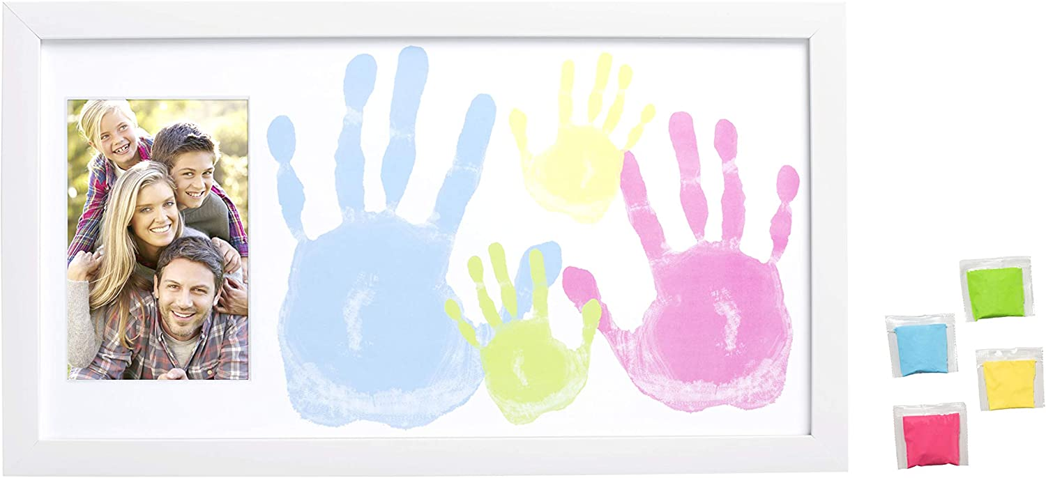 DIY Crafts Family Craft Night Tiny Ideas Family Handprint Frame and Paint Kit White