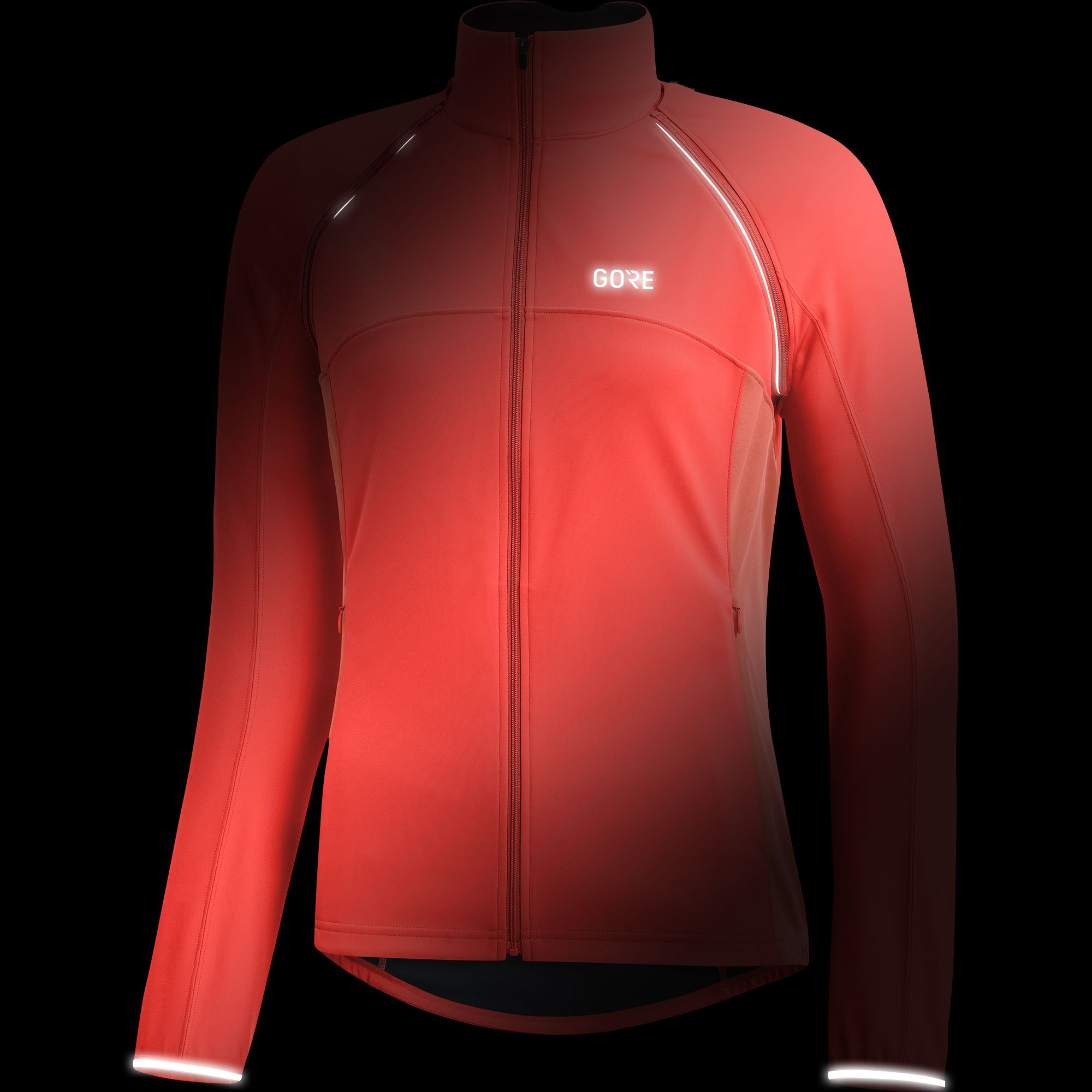 GORE Wear Women's Windproof Cycling Jacket, Removable Sleeves, GORE Wear C3 Women's GORE Wear WINDSTOPPER Phantom Zip-Off Jacket, Size: L, Color: Lumi Orange/Coral Glow, 100191 by GORE WEAR (Image #2)