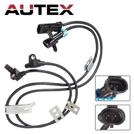 amazon com autex 2 pcs front left \u0026 right abs wheel speed sensorautex 2 pcs front left \u0026 right abs wheel speed sensor als1184 5s8371 compatible with chevrolet