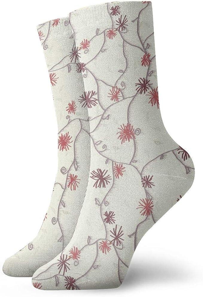 Hunter qiang Calcetines de algodón para mujer con diseño de flor ...