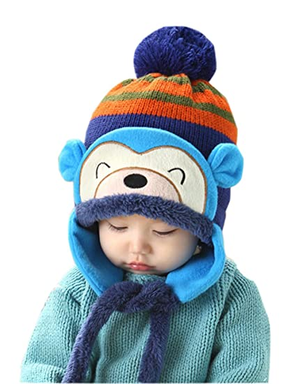 Amazon Baby Warm Winter Knit Hat Cooki Infant Toddlers Boys