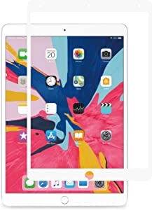 Moshi iVisor AG Screen Protector for iPad 7 10.2-inch/iPad Air 10.5-inch/Pro 10.5-inch, Washable & Reusable, Reduce Fingerprints & Smudging, Compatible with iPad Pencil, White (Clear/Matte)