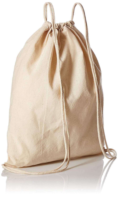Economical Cotton Sport Drawstring Bags Cinch Packs by ToteBagFactory 36 Pack 3 Dozen TBF