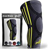 PURE SUPPORT Knee Brace Sleeve with Best Patella Compression for Meniscus Tear & Arthritis – Ideal for Running, Sports…