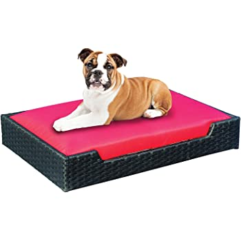 Amazon.com : Outdoor Dog Chaise Bed n Espresso, Large