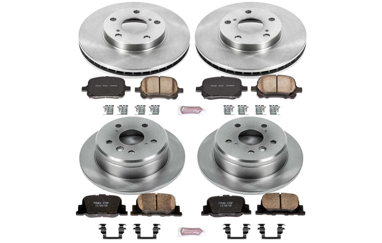 Autospecialty KOE1061 1-Click OE Replacement Brake Kit by Power Stop