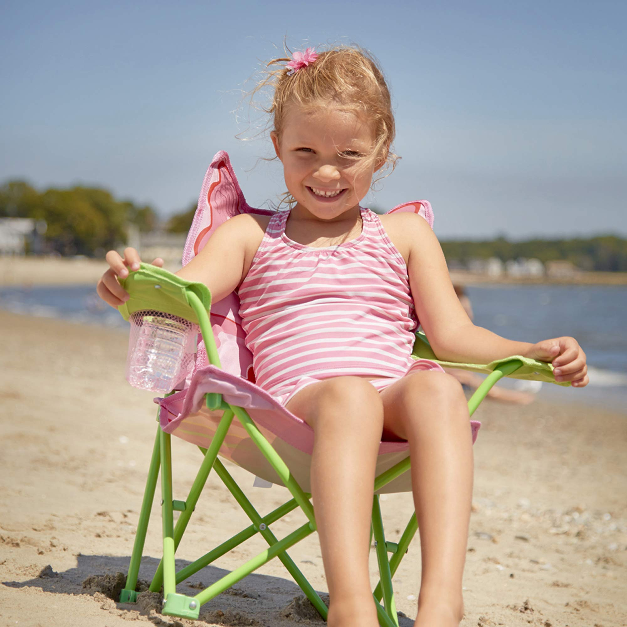 Melissa & Doug Personalized Sunny Patch Bella Butterfly Outdoor Folding Lawn & Camping Chair by Melissa & Doug (Image #3)