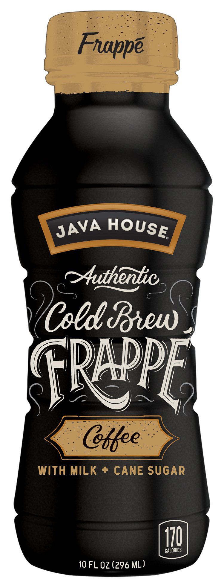 JAVA HOUSE Authentic Cold Brew Coffee, Frappe, 10 Ounce (Pack of 12) Ready to Drink