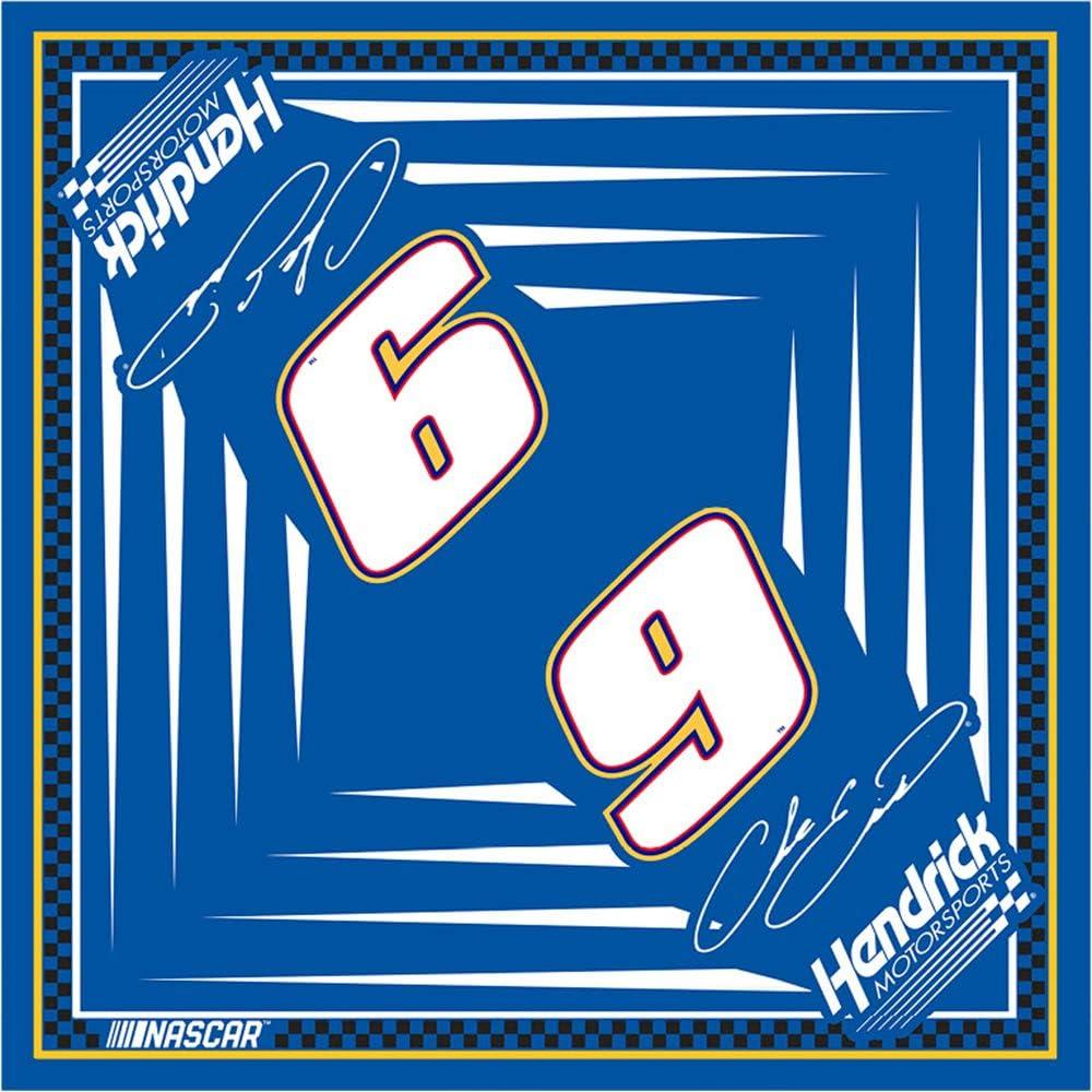 Checkered Flag Chase Elliott #9 Cloth Bandana Face Covering Blue