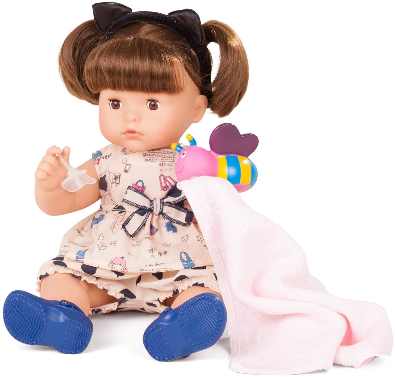 Götz 1718241 Maxy Aquini Wonderland Badepuppe - Wunderland - Puppe mit braune Haare, braune Schlafaugen - 9-teiliges Set - 42 cm Mädchen-Babypuppe