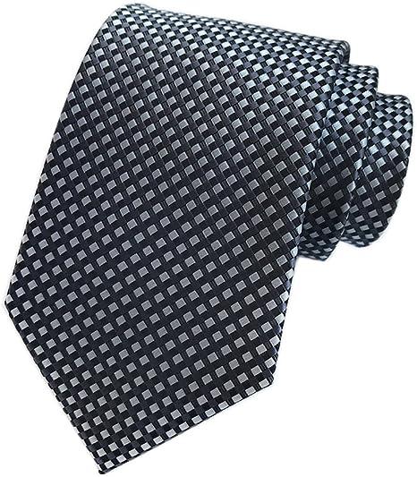 GIFTS FOR MEN Classic Mens Checked Diamond Check Silk Necktie Tie Blue Black