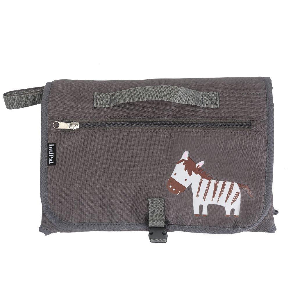dfc31d46a Bolso cambiador con bolsillos de almacenamiento de IntiPal Grey Zebra:  Amazon.es: Bebé