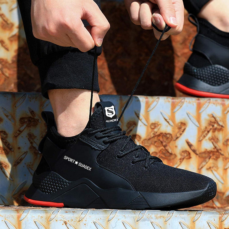 SUADEEX Chaussures de S/écurit/é Homme Femme Embout Confortable L/éger Respirante Chaussures de Travail