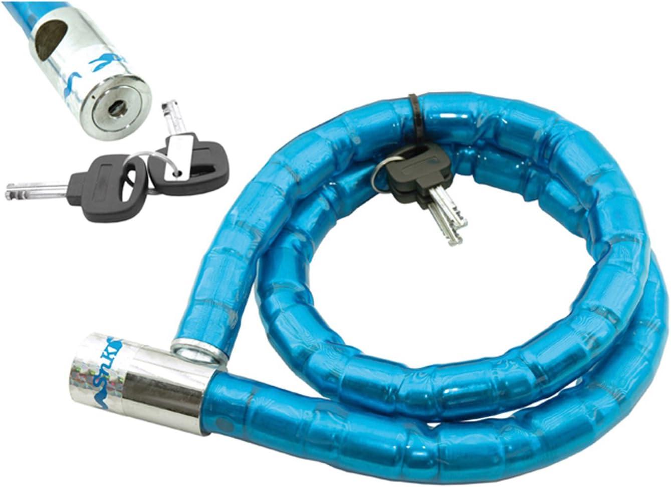 Candado de Rotulas Acero Forrada de PVC Bicicleta de Montaña MTB y ...