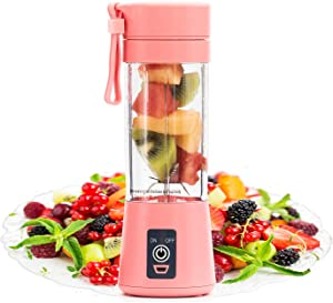 Portable Blender by FlowerIce,Personal Size Blender Juicer Cup,Smoothies and Shakes Blender,Handheld Fruit Machine,Ice Blender Mixer Home (pink)