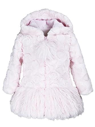 cddc7ef3ae75 Amazon.com  Widgeon Girls  Hooded Shaggy Bottom Faux Fur Coat 3619 ...