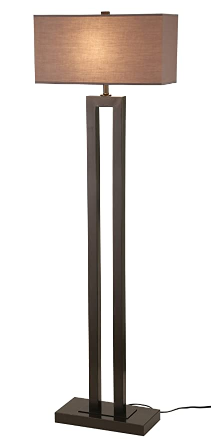Stone Beam Modern Metal Floor Lamp 595quotH With Bulb Earth