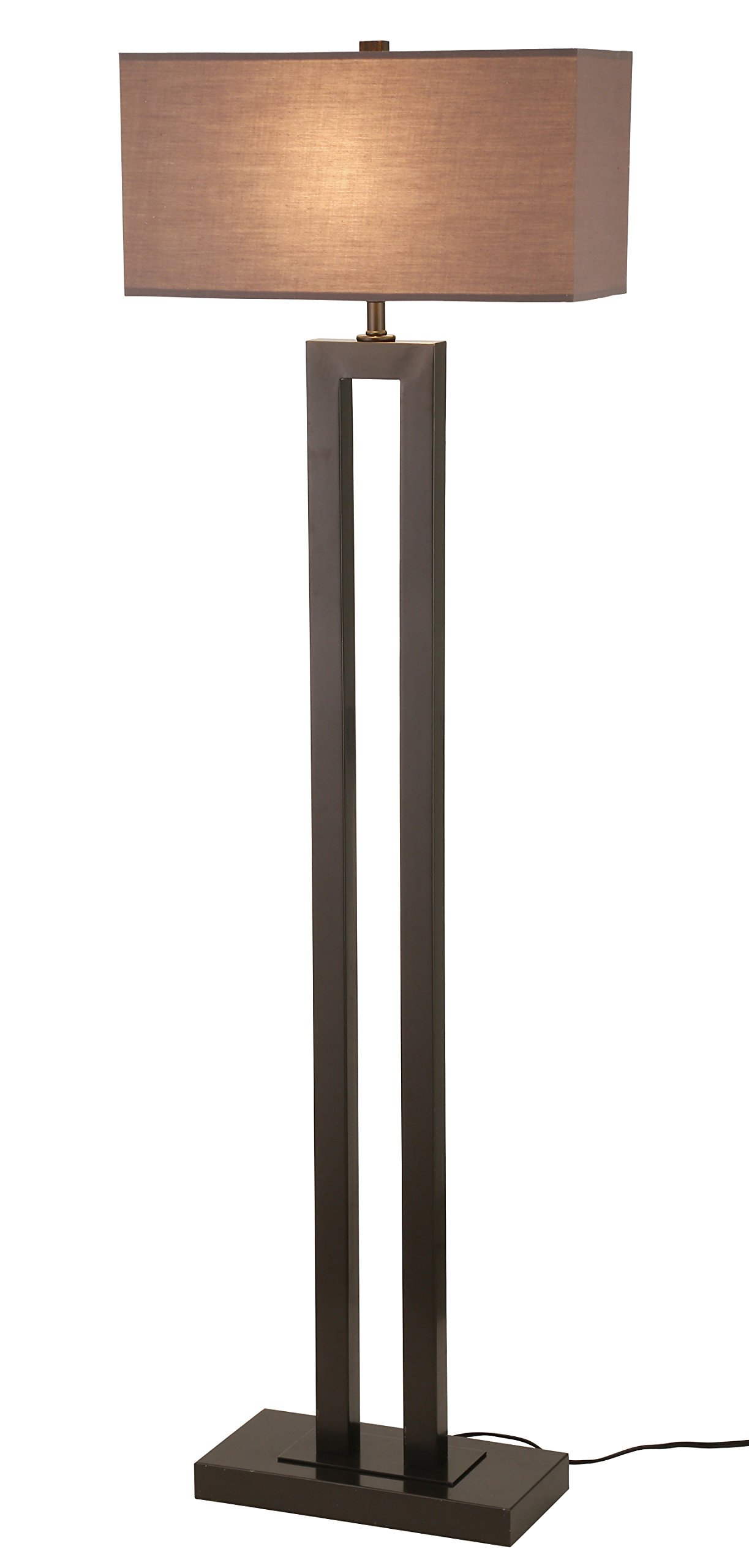 Stone & Beam Modern Metal Floor Lamp, 59.5''H, With Bulb, Earth Tone Shade by Stone & Beam