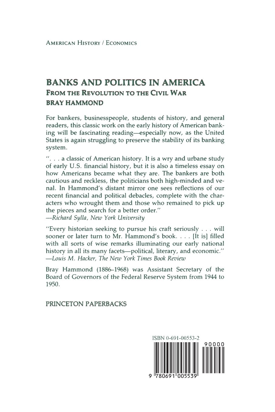 banks and politics in america from the revolution to the civil war banks and politics in america from the revolution to the civil war bray hammond 9780691005539 com books