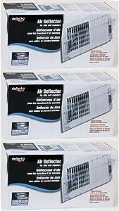 3-Pack Bundle - Deflecto Wall Register Air Deflector