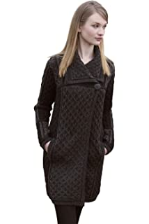 fd3c89d1be The Irish Store 100% Irish Merino Wool Single Button Ladies Plated Coat by  Westend Knitwear