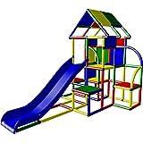 Moveandstic 6025 - großer Spielturm LAURA mit Dach und Rutsche