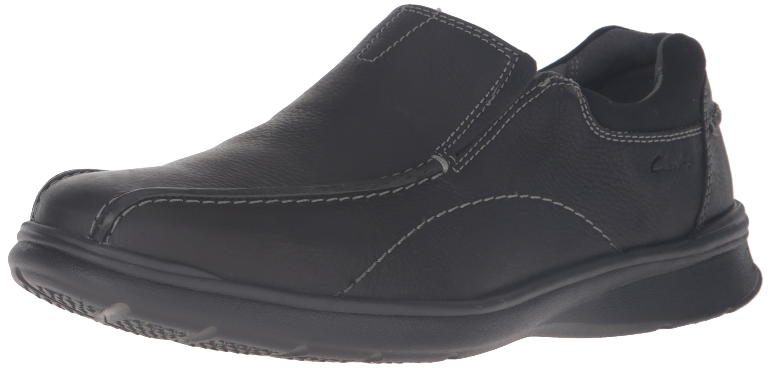 CLARKS Men's Cotrell Step, Black Oily, 12 W