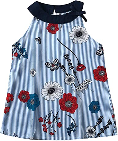 Baby Kids Girl Clothing Sleeveless Blouse  Princess Party Dress Outfits Clothes